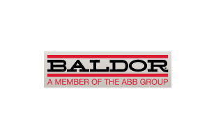 Baldor logo with text: A member of the ABB Group